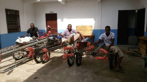 Delivery of drilling equipment to EMAS technicias at Sierra Leone