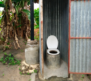 Odourless ventilated latrine improved