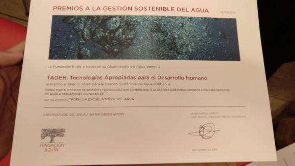 Premios a la gestion sostenible del Agua